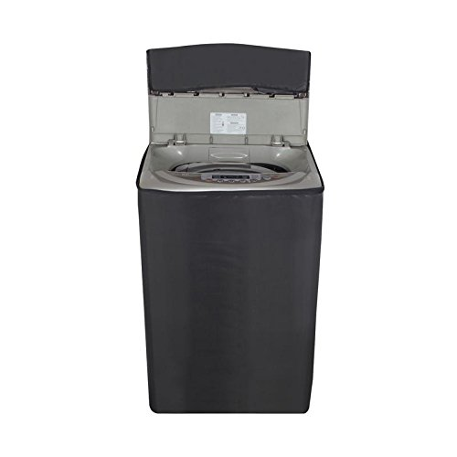 Glassiano Grey colored washing machine cover for Panasonic 6.2 kg NA-F62B5HRB/NA-F62B3HRB Fully-Automatic Top Loading  available at amazon for Rs.399
