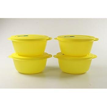 TUPPERWARE CrystalWave Rotondo bowl 1,5 L giallo 15524
