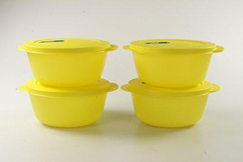 TUPPERWARE Microflash Redondos 1,5 L amarillo (4)
