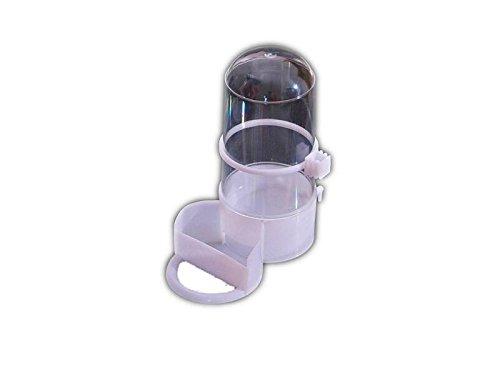 PanpA Nachhaltig 2 in 1 Automatische Futterautomat und Wasserspender für Hamster Gerbil Kleine Tiere mit festen Set-Transparente Farbe