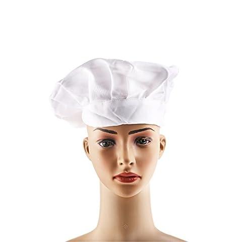 ROSENICE Unisexe Toque de chef cuisinier élastique réglable