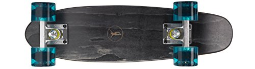 Ridge Skateboard Regal Series Laser Cut Mini Cruisers, Schwarz/Klar Blau, 22 Zoll, R