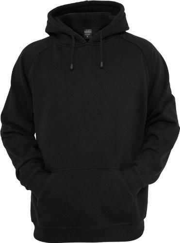 Urban Classics TB014 Sweatshirt, Hoodie Herren, Kapuzenpullover einfarbig (Pullover in vielen Farben erhältlich, ausgestattet mit Kapuze und Bauchtasche) Schwarz (Black 00007)