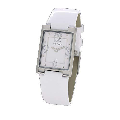 Time Force Reloj Analógico para Mujer de Cuarzo con Correa en Cuero TF4066L11