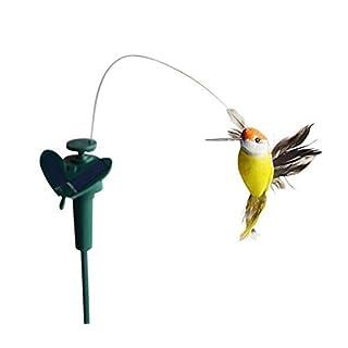 Aoxintek Solar Powered Flying Fluttering Kolibri Flying Vögel/Schmetterling zufällige Farbe, Vogel-Motiv