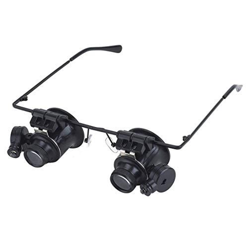 20X Brille Typ Fernglas-Lupen-Uhr-Reparatur-Werkzeug mit Zwei LED-Leuchten -