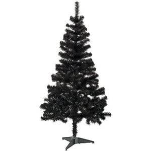 5ft christmas tree black 5ft festive christmas tree co uk kitchen amp home 1447