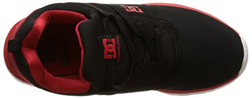 DC Shoes Heathrow B, Baskets Basses Garçon Noir (Black/Red)