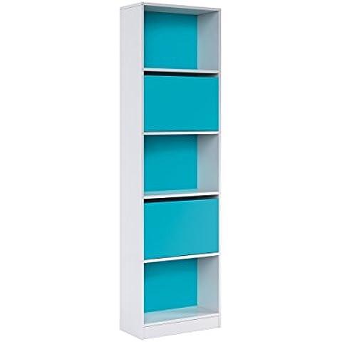 Habitdesign - Mesa escritorio con puertas color blanco brillo y magenta 73 alto x 120 ancho x 50