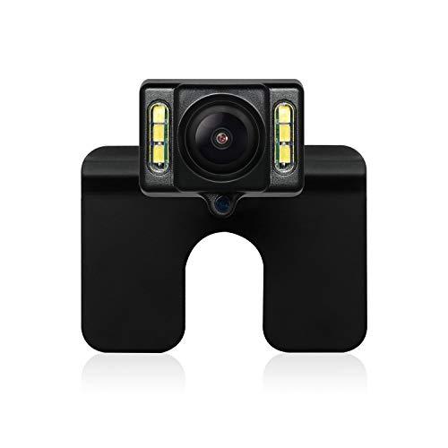 AUTO-VOX CAM1 FHDAuto Rückfahrkamera EU-Nummernschild Rückansichtkamera mit IP68 Wasserfestigkeit, Hochhelligkeit Bildsensor, Nachtsicht mit 6 LEDs für die meisten Automodelle inklusiv Truck&RV (RVC-CAM1-U) -