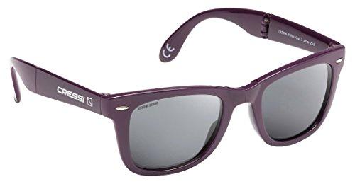 Cressi taska occhiali da sole, unisex – adulto, burgundy/lenti grigio scuro, taglia unica