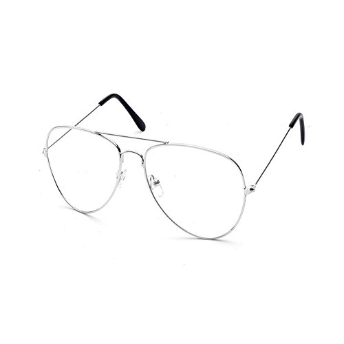 e Metallrahmen Fensterglas Brille Ohne Stärke Durchsichtig Nerdbrille Sonnenbrille mit Nasenpad Retro Winddicht Sonne Brille Damen Herren (Nerd Brille)