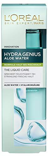 L'Oreal Paris Hydra Genius Feuchtigkeitsfpflege, mit Hyaluron und Aloe Water für Normale bis Mischhaut, 2er Pack (2 x 70 ml) - Gel Normale Haut-feuchtigkeitscreme