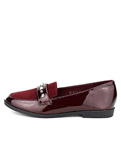 Cendriyon Derbies Bordeaux CINKS Moda Vernies Chaussures Femme Bordeaux