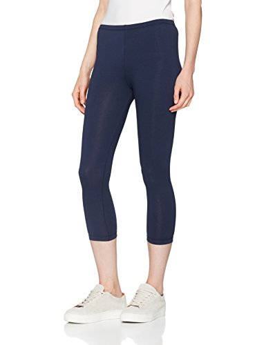 Berydale Damen Leggings Capri Matt, 100 DEN, Gr. 40 (Herstellergröße: L), Blau (Navy) - Navy Blickdichte Strumpfhose