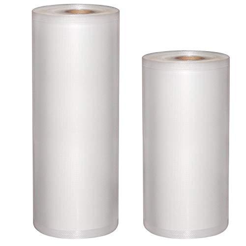 Mixmart rotolo termosigillabile per macchina per sottovuoto, 2 pezzi e 2 misure 28cm x 15m, 22cm x 15m