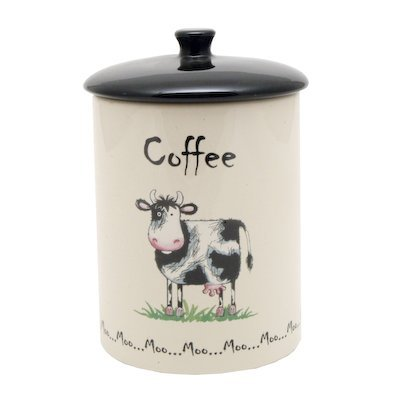 Price and Kensington Home Farm Coffee Jar, Ceramic, Multi-Colour,
