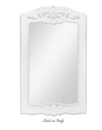 Specchiera di legno con fregio centrale stile vintage disponibile in diverse rifiniture L'ARTE DI NACCHI SP.136G/BG