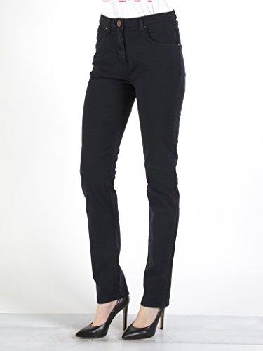 Carrera Jeans - Pantalone 753 753A0942A per donna, modello dritto, tinta unita, tessuto gabardina, vestibilità normale, vita alta 676 - Blu scuro