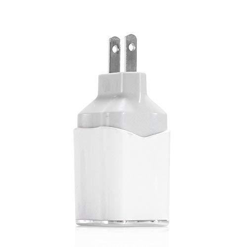 EU/US USB Ladegerät,Dual USB Netzteil,AC 2A Schnelles Ladekopf,EU Stecker Wandladegerät für Smartphones, Samsung Galaxy, HTC,Huawei,Nexus,Nokia,iPhone (Weiß, US) Nokia Dual-port