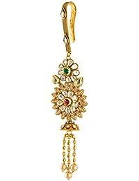Spe Indian Ethnics Golden Copper Saree Pin For Women (SP-04)