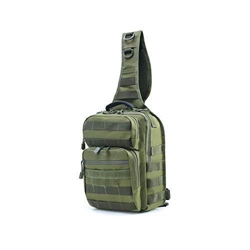 k Tactical Chest Pack Lässige Satchel Men Outdoor Riding Chest Pack,Green ()