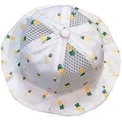Sombrero lindo del bebé Sombrero de algodón suave empaquetado de la gorra de malla de la protección del sol del bebé de la visera del bebé de la piña por 5-15 meses