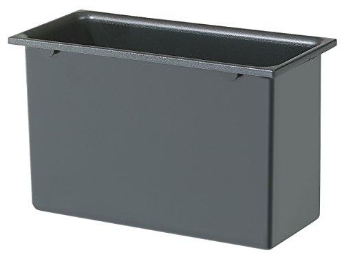 Exacompta 43242D Papierkorb Deckel Öko-Einsatz eckig Classic, anthrazit