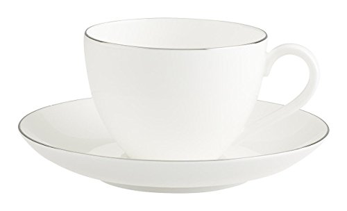 Villeroy & Boch 1046361290 Anmut Platinum No.1 Kaffeetasse mit Untertasse 2tlg Platinum-berry