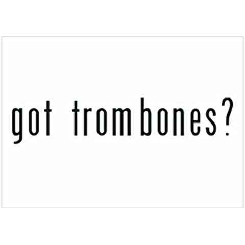 Teeburon Got Trombone? Pack de 4 Pegatinas