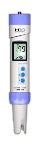 Hydrofarm HMDCOM100 Waterproof EC-TDS & Temperatur Combo Meter