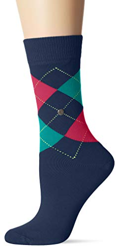 Burlington Damen Queen Socken, per pack Mehrfarbig (iris 6577), 36/41 (Herstellergröße: 36-41)