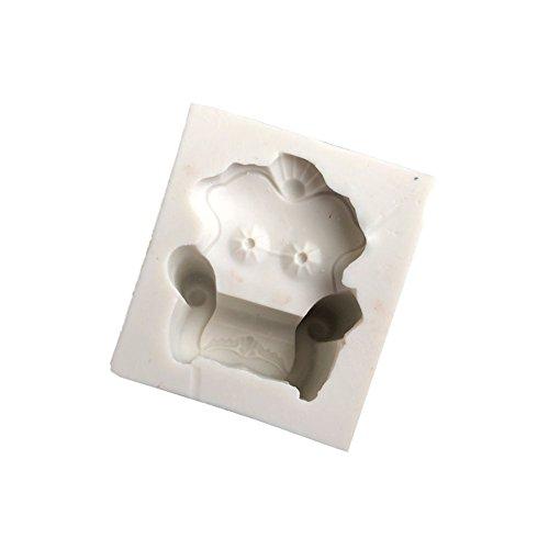 FOReverweihuajz Niedliche Vintage-Sofa-Silikon-Form, Schokoladenkuchen weicher Ton DIY-back Werkzeug-grau-weiß