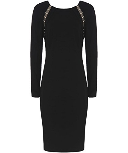 Versace Collection Damen Detail Kleid Schwarz Schwarz