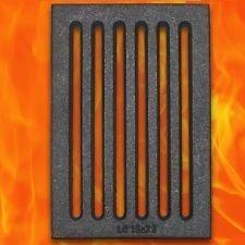 Gussrost 15 x 22 cm Kamin Ascherost Tafelrost Kaminrost Ofenrost 22 x 15 cm