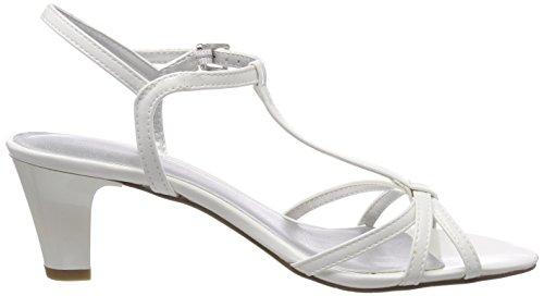 Tamaris Damen 28329 T-Spangen Sandalen Weiß (White Patent)