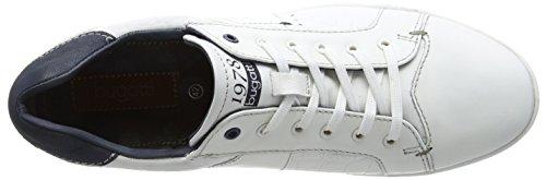 bugatti 311137031035 Herren Low-Top Weiß (white    dark blue 2041)