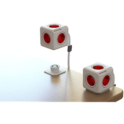 Allocacoc 1306RD/DEEXPC base múltiple - bases múltiples (Rojo, Color blanco)