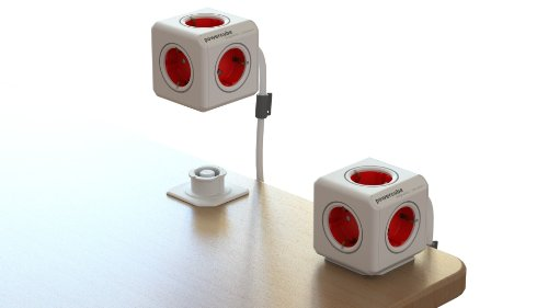 Allocacoc - Powercube socket 230v red extended 1.5m