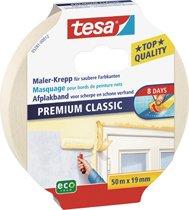 Tesa 05343-00000 Maler Krepp Premium Classic Doppelpack 50 m x 30 mm