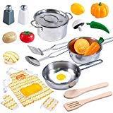 JOYIN Juguetes Cocina Acero Inoxidable 22 Piezas Set