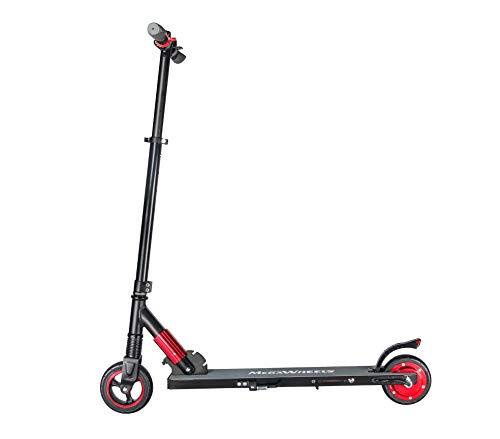 M MEGAWHEELS Elektro Scooter Faltbarer Elektroscooter Cityroller 250W 23km/h Kurze Distanz Perfekt für Jugendliche und Erwachsene (Rot)