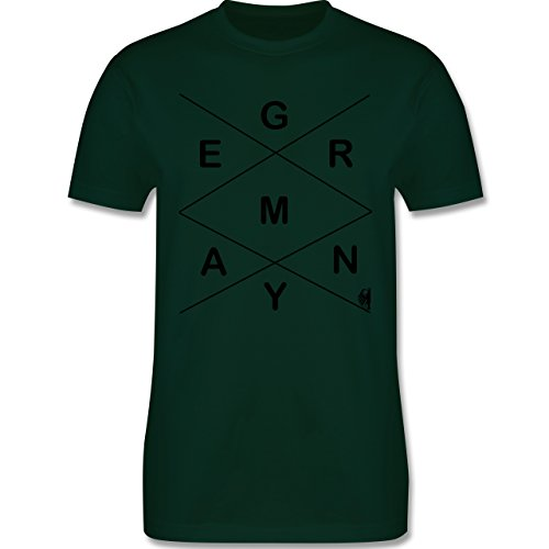 Statement Shirts - Germany - Herren Premium T-Shirt Dunkelgrün