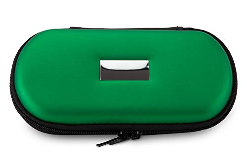Aufbewahrungs-Etui Ego für E-Zigaretten und E-Shishas ideal als Tasche Hülle Bag Case zum Schutz oder für Liquids und Zubehör (Gravur, Grün)