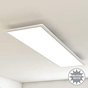 Briloner Leuchten Deckenleuchte-Panel, LED, Wohnzimmer-Lampe, Deckenlampe, Deckenstrahler, 38W, Rechteckig Weiß, 119.5…