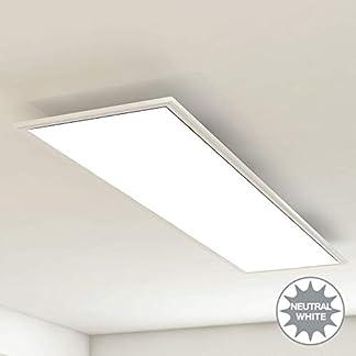 Briloner Leuchten Pannello luminoso a soffitto, lampada, lampada da soggiorno, lampada da soffitto, plafoniera, 38W, rettangolare bianco, 119.5 cm, metallo