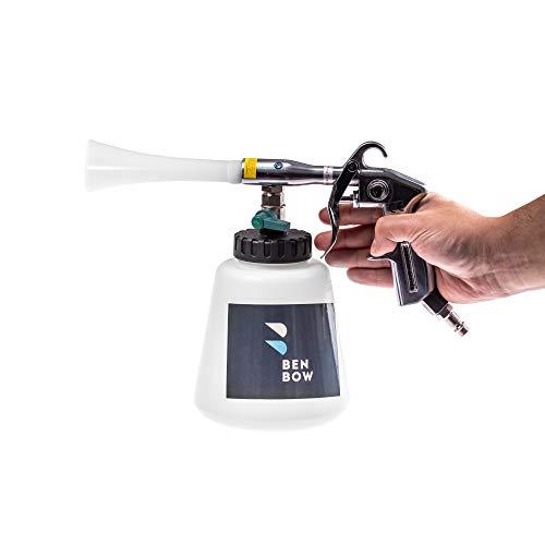 BENBOW Druckluft Reinigungspistole - 02 - Innenreiniger mit TORNADO EFFEKT Hochdruck Waschpistole Polsterreiniger für Autopflege autositze reiniger plastikreiniger textilreiniger reinigungsgerät