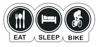 EAT-SLEEP-BIKE, FAHRRAD, RENNRAD Aufkleber Autoaufkleber Sticker Vinylaufkleber Decal