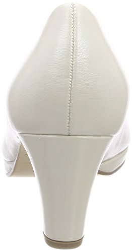 Gabor Damen Fashion Pumps Weiß (Off-White+Absatz)