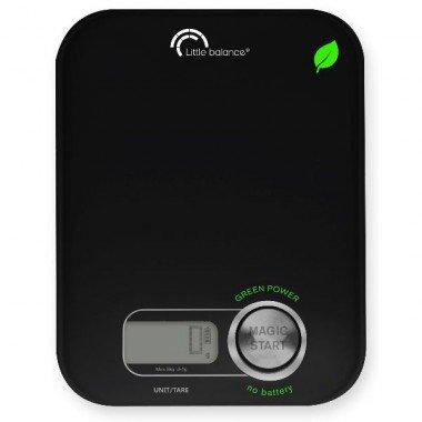 Little balance - 8197 - Balance de cuisine électronique 5kg - 1g noire green power